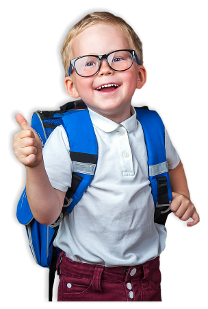 boy showing thumbs up and smiling